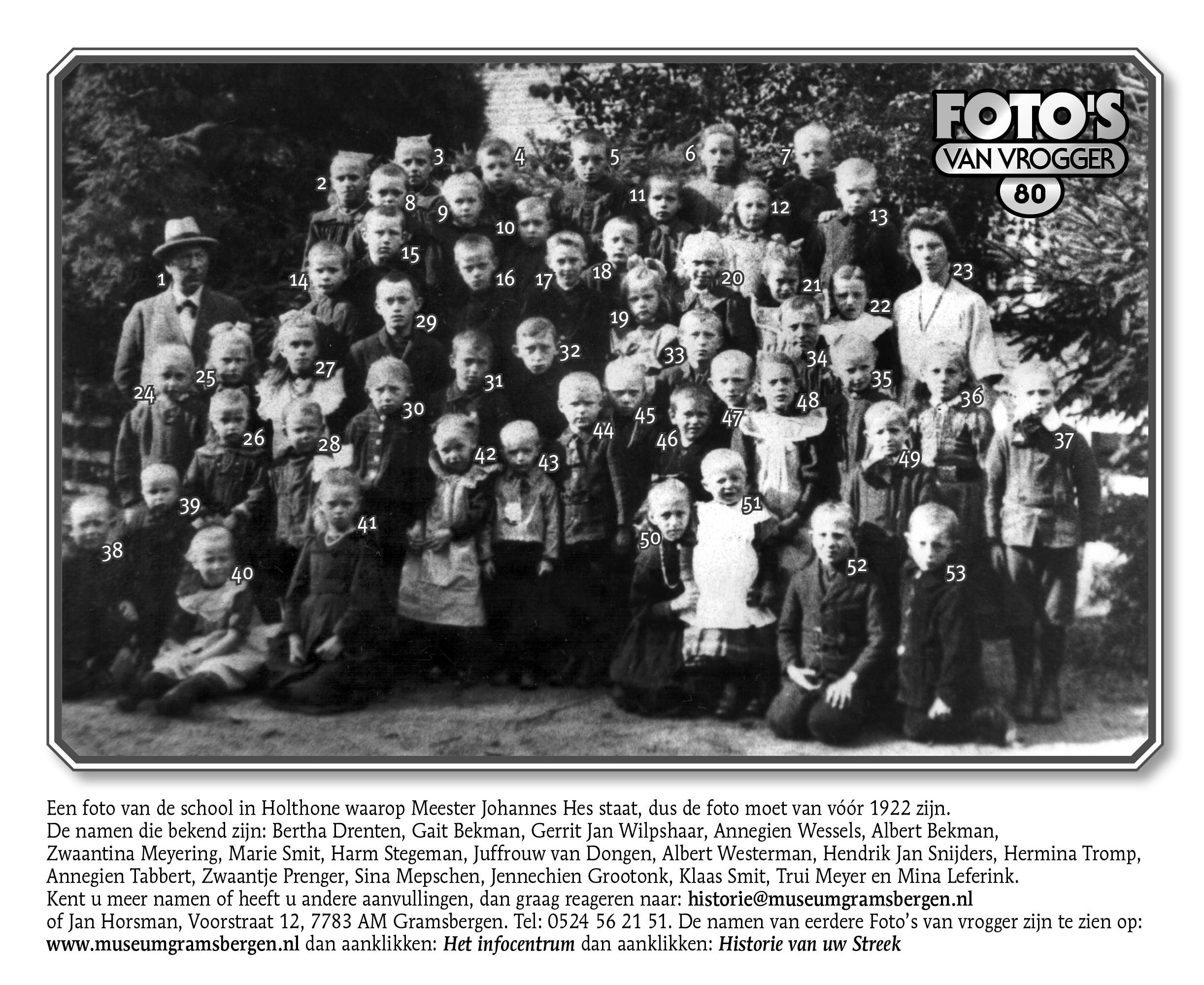 Foto van vrogger nr 80 (genummerd)
